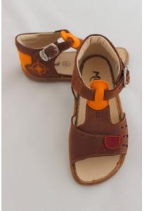Nu-pieds Kement, chocolat et orange Minibel