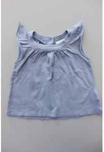 Tee-shirt bleu, col pailleté Bout'chou