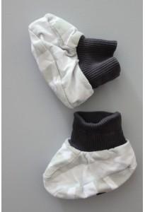 Chaussons rayés kaki et blanc 17-18 Catimini