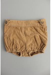 Short velours camel 3-6 mois Gocco