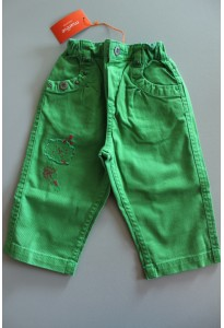 "Pantalon ""Happy Days"" vert et rose Marèse"