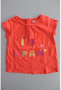 Tee-shirt MC orange, oiseau DPAM