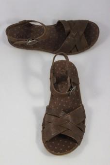 Nu-pieds Expresso marron Kickers