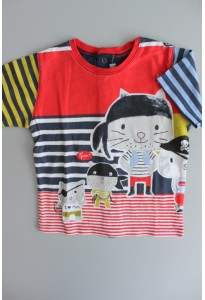Tee-shirt MC rayé, pirates Catimini