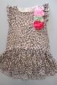 Robe léopard, fleurs Monnalisa