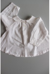 Blouse ML blanche, col claudine Bout'chou