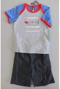 Tee-shirt MC marin et bermuda bleu marine EOM