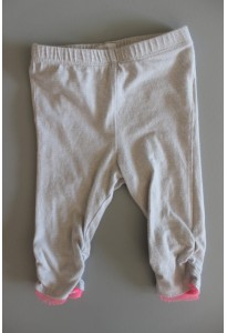 Leggings rayés beige grisé Coudémail