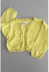 Gilet maille coton jaune TAO