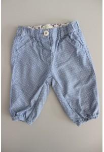 Pantalon bleu à pois blancs Benetton