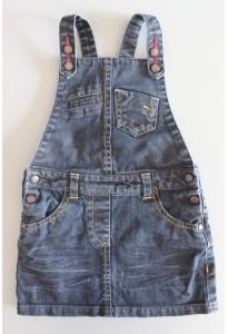 Robe salopette jean bleu brut Kiabi