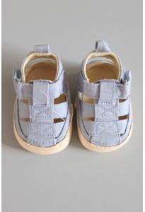 Bottons-sandales bleues