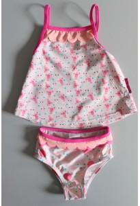 Maillot de bain 2 pièces rose, homards Petit Béguin