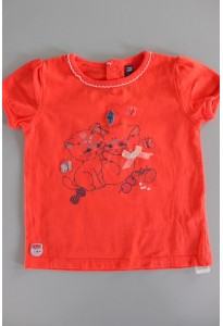 Tee-shirt MC rouge, chatons Sergent Major
