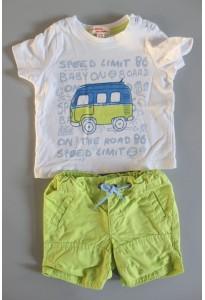 Tee-shirt imprimé et short vert, on the road dpam