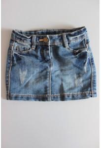 Mini jupe jean bleu TAO