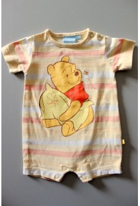 Combishort rayé jaune, Winnie Disney