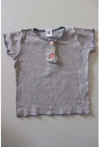 Tee-shirt MC rayé bleu marine Petit Bateau