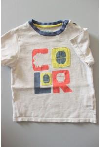 Tee-shirt MC beige chiné, color Obaibi