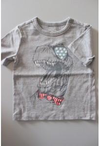 Tee-shirt MC gris, dino Baby Gap