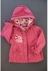 Veste coupe-vent à capuche rose DPAM