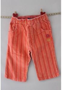 Pantalon velours rose-orange LCDP
