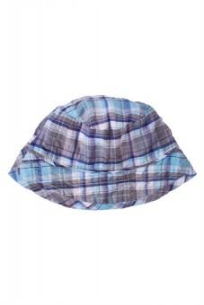 Chapeau à carreau bleu 3-6 mois (t. 43) Clayeux