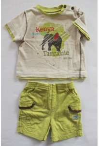 Tee-shirt et short vert, Kenya
