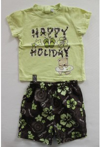"Tee-shirt et short ""happy holiday"""
