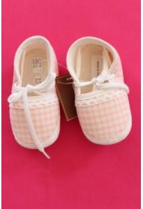 Bottons-Babies vichy rose et blanc 6-12 mois Clayeux