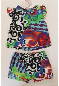 Blouse, culotte et short colorés Clayeux