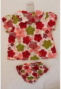 Blouse et culotte fleuries Clayeux