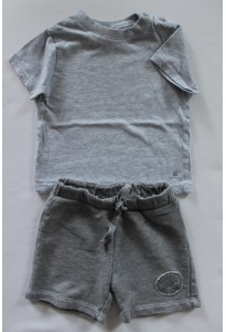 Tee-shirt et short gris