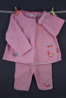 """Ensemble veste et pantacourt rose """"cot cot"""" La Compagnie des Petits"""