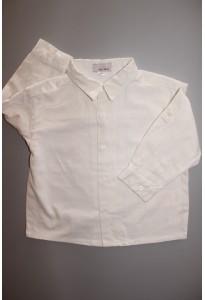 Chemise en lin blanc cassé Vertbaudet