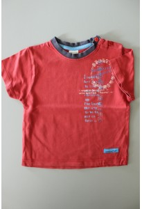 Tee-shirt MC rouge et bleu Decathlon