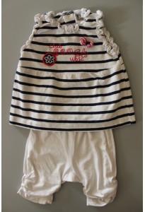 """Tee-shirt rayé marin et leggings, """"club beach"""" - UBS2"""