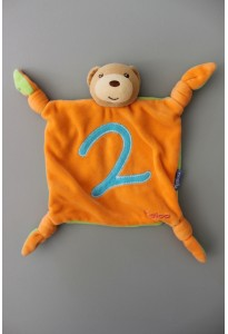 Doudou mouchoir orange et vert anis, 2 Kaloo
