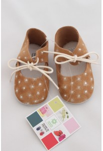 Chaussons camel, strass mon petit chausson